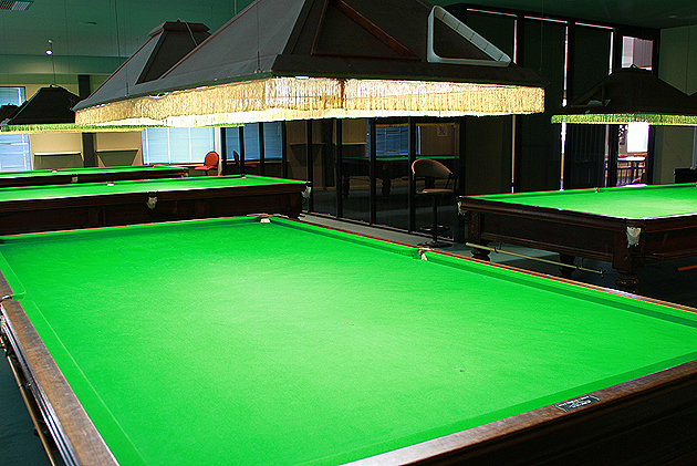 Refurbished snooker tables